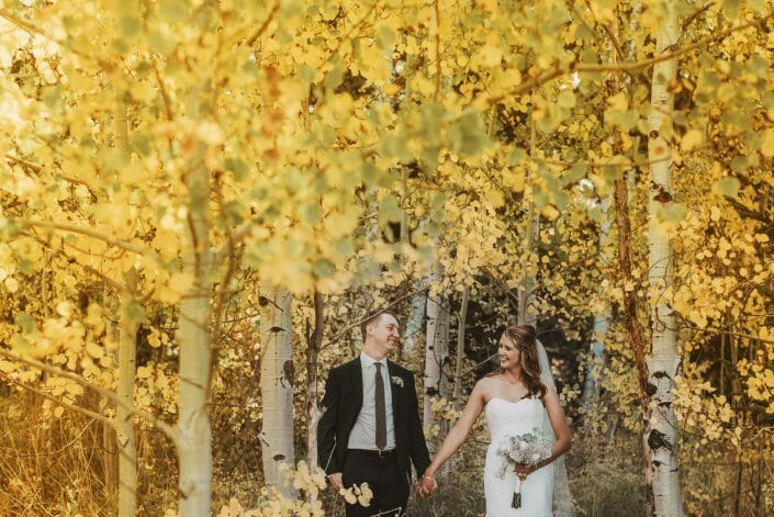 Mountain Fall Foliage Wedding Photo | Denver Colorado Wedding Photographer