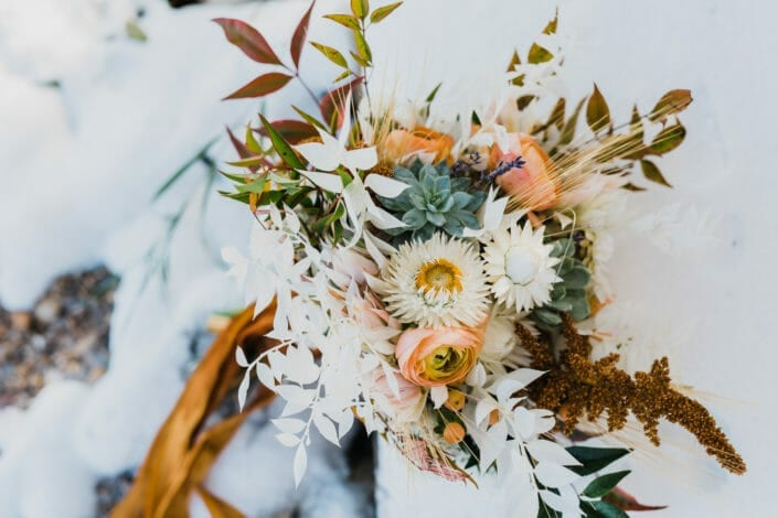 Rocky Mountain Elopement Floral Bouquet