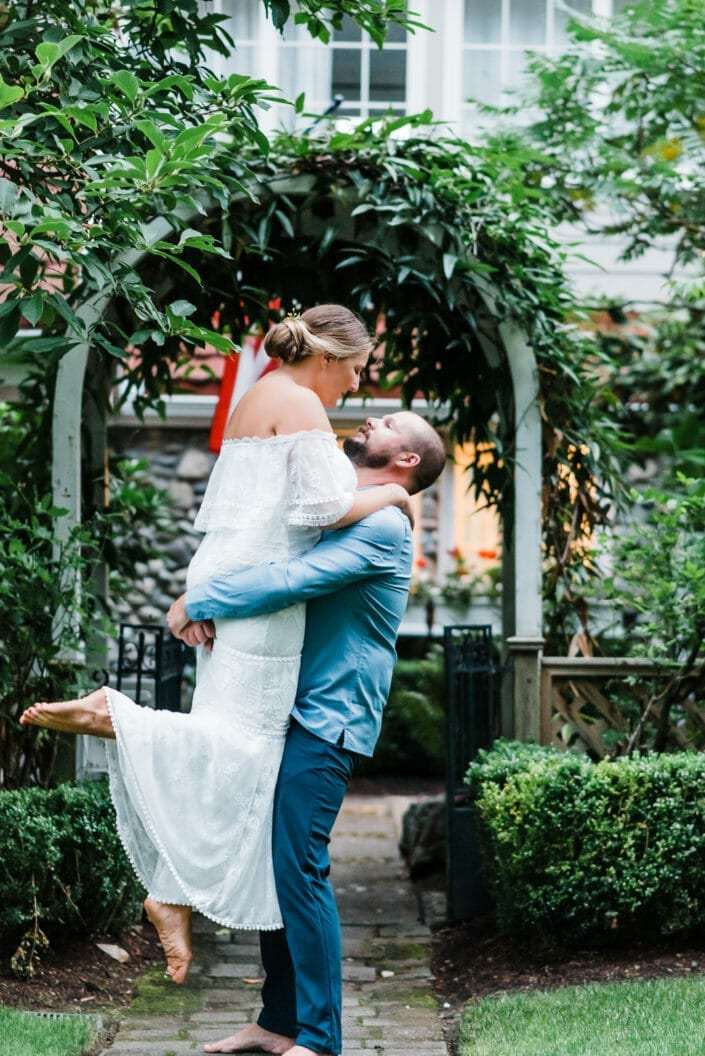 Colorado Garden Elopement Portrait