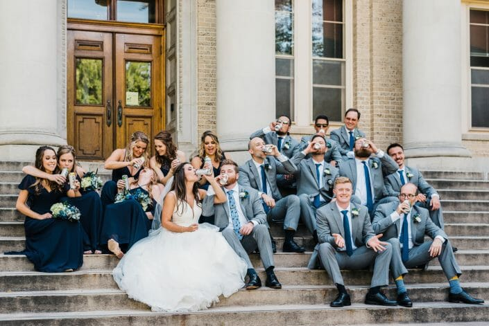 Urban Wedding Party Photo | Denver Colorado Wedding Photographer
