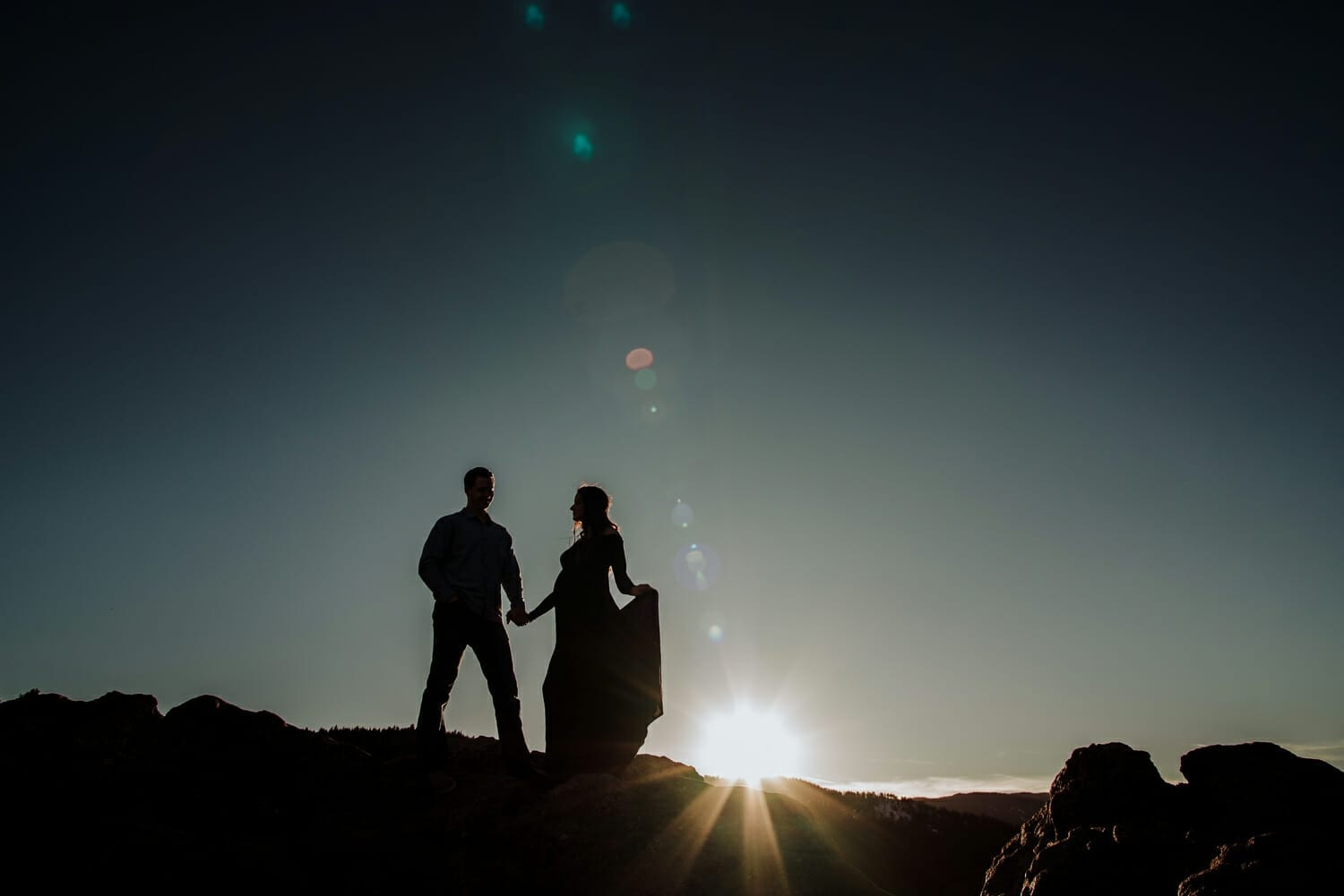 Romantic Mountain Colorado Maternity Photography   From the Hip Photo