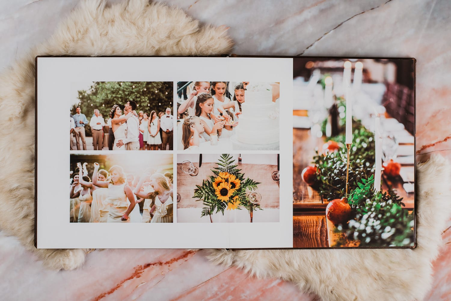 Size and cover options - Custom wedding album design and printing service | From the Hip Photo