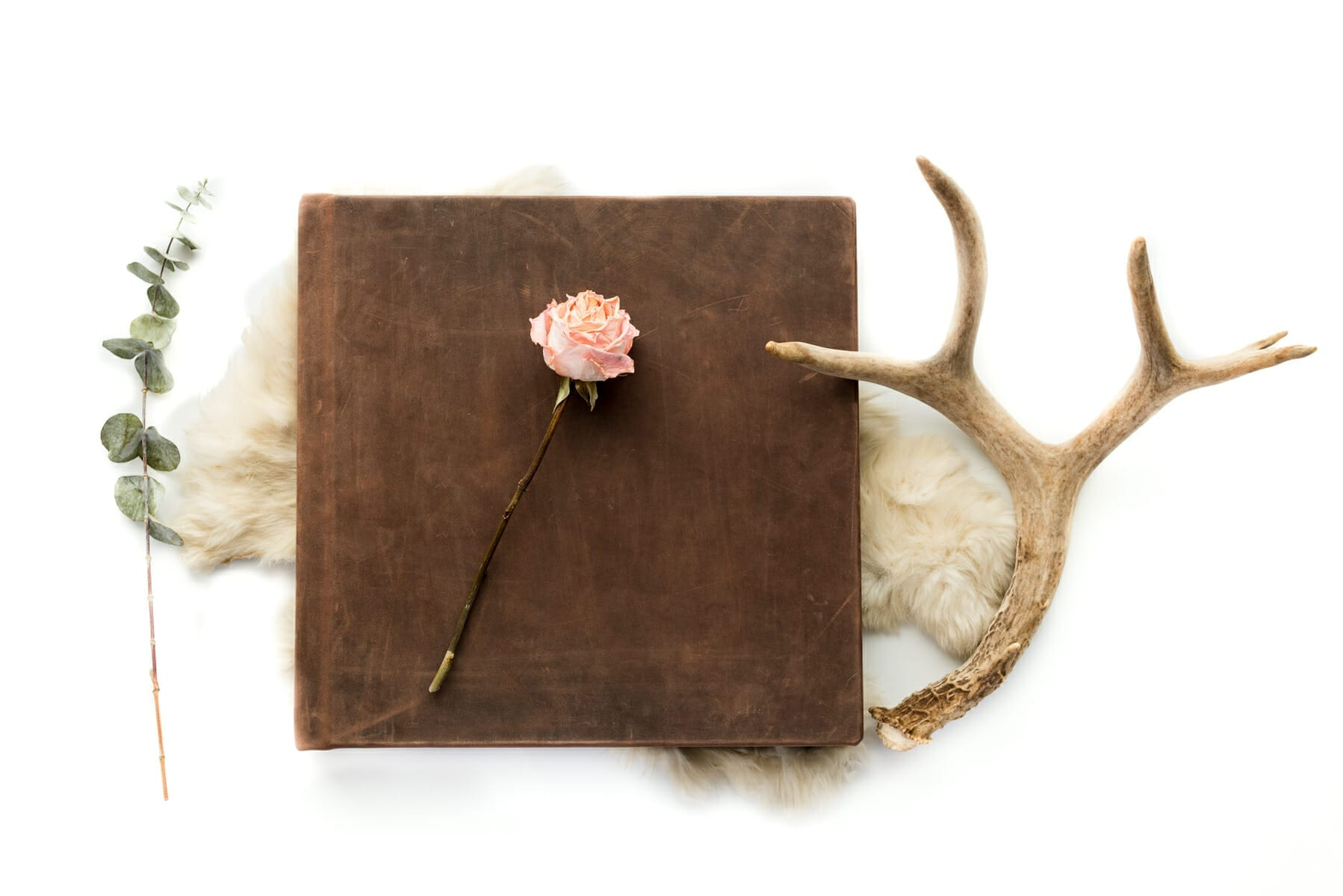 Leather cover - Custom wedding album design and printing service | From the Hip Photo