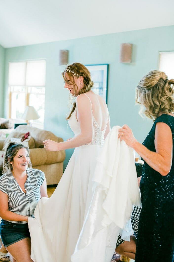 Wedding Bride Getting Ready Photo   Colorado Elopement Photographer