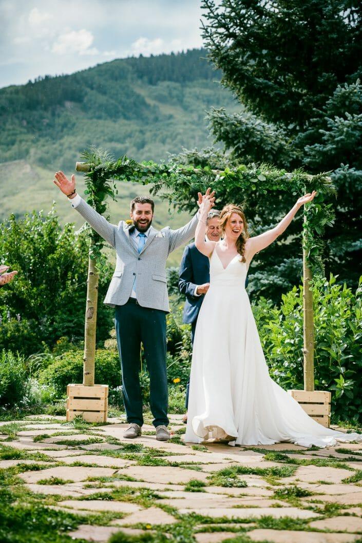 Mountain Wedding Ceremony Photo   Colorado Elopement Photographer