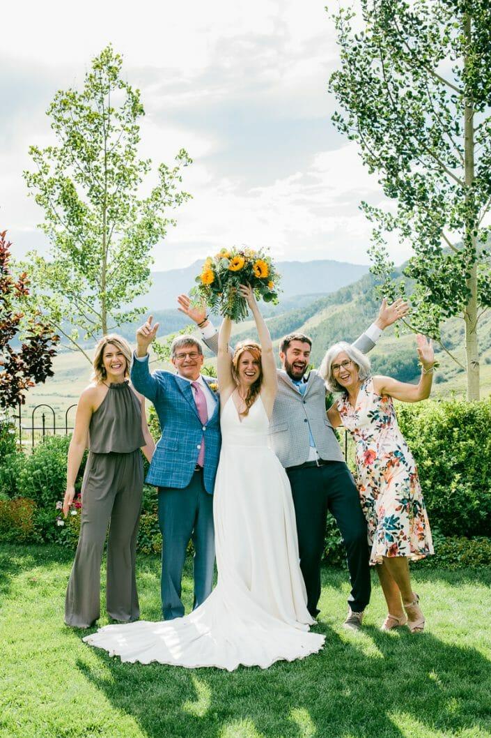 Wedding Party Photo   Colorado Elopement Photographer