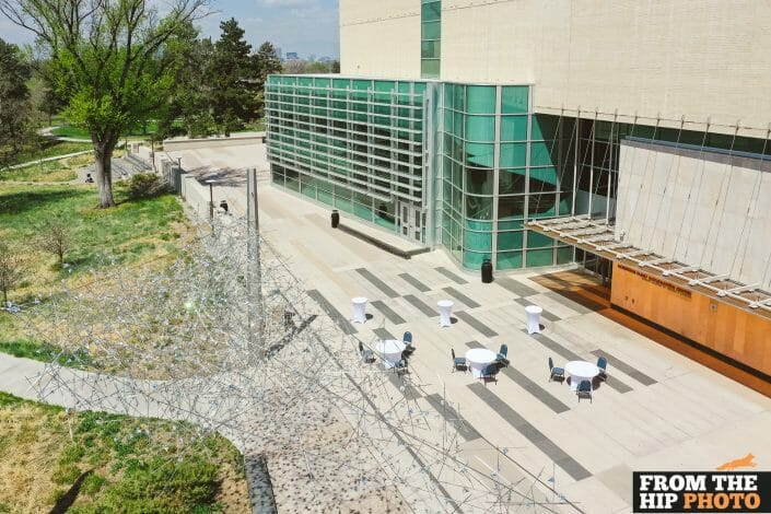 Denver Museum of Nature & Science | Colorado Aerial Drone Wedding Photography