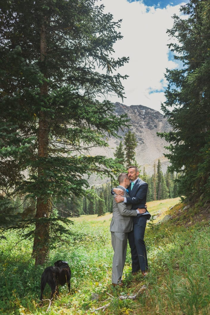 Mountain LGBTQ Summer Wedding Portrait | Colorado Elopement Photographer