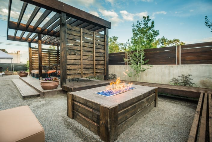 Modern Patio With Fireplace Photo | Colorado Real Estate Photographer