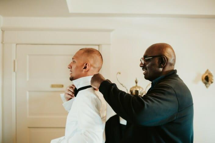 Wedding Groom Getting Ready | Denver Colorado Elopement Photographer