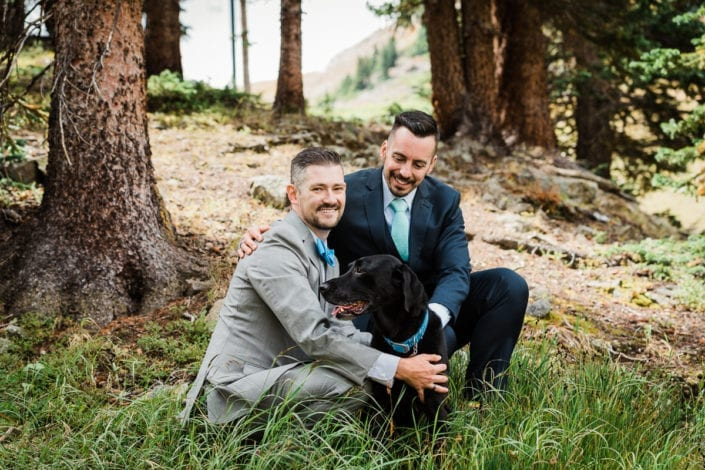 Mountain Samesex Summer Wedding Portrait | Colorado Elopement Photographer