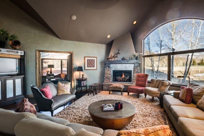 Open Cozy Living Room Photo | Colorado Real Estate Photographer
