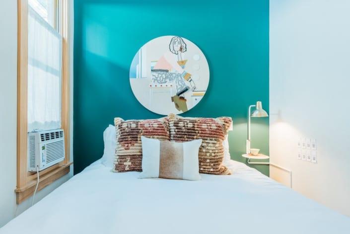 Modern Minimalist Bedroom Photo | Colorado Real Estate Photographer