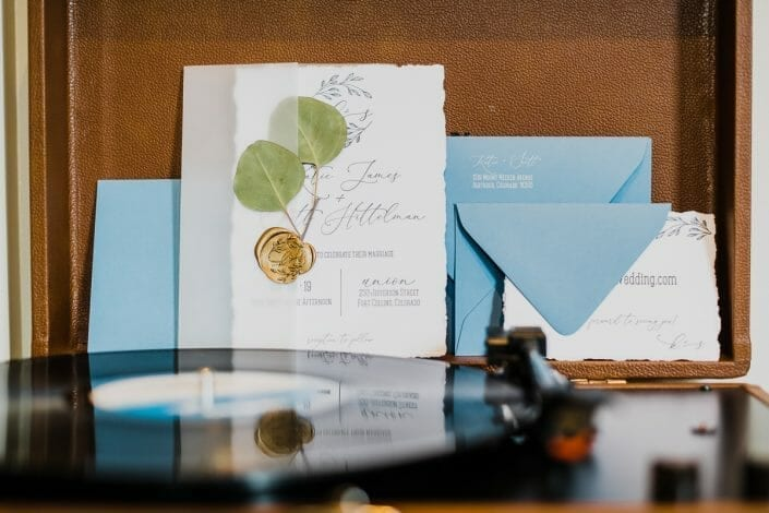 Urban Wedding Invitation Photo Fort Collins | Colorado Elopement Photographer