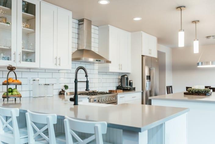 Bright White Kitchen Photo | Colorado Real Estate Photographer
