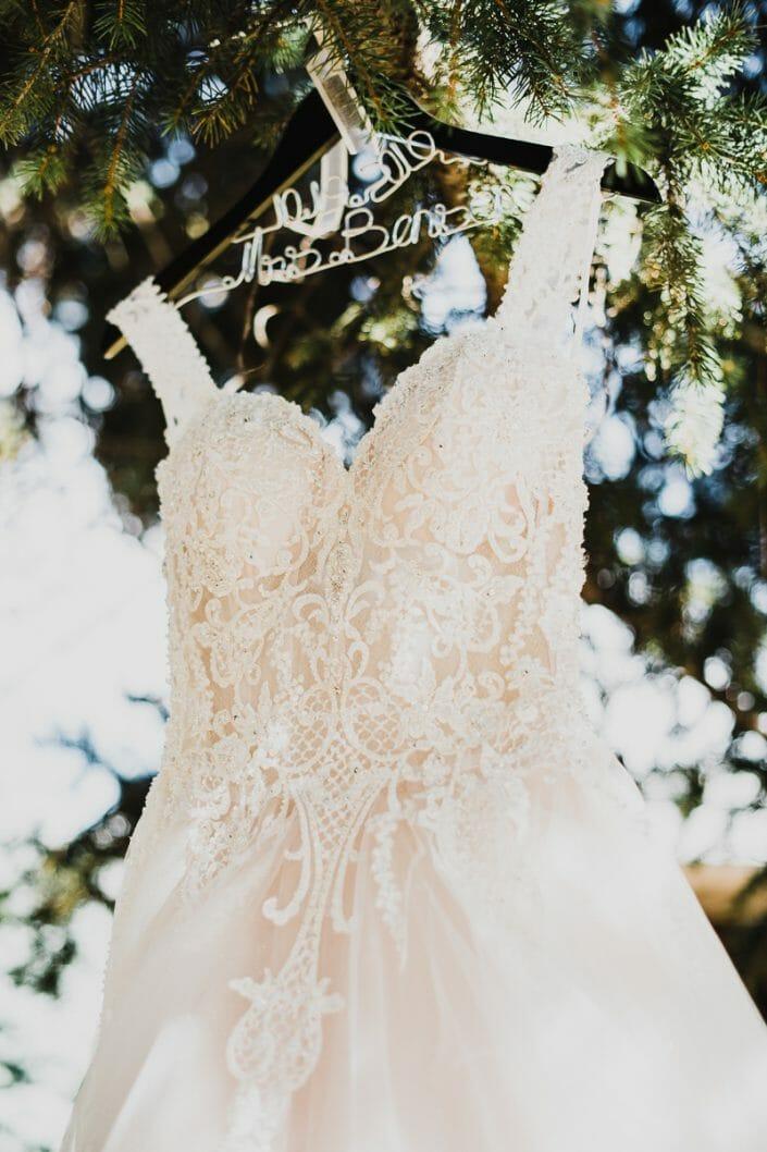 Elegant Wedding Dress | Boulder Colorado Elopement Photographer