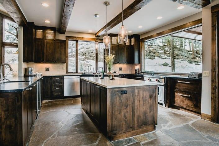 Mountain Kitchen with Island Photo | Colorado Real Estate Photographer