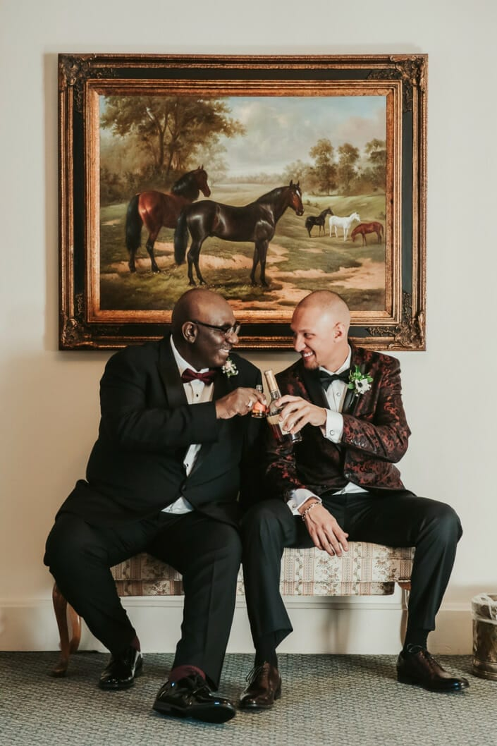 Wedding Groom with Father-in-Law | Denver Colorado Elopement Photographer