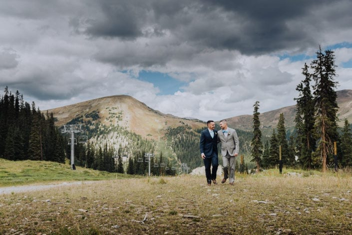 Mountain Same-sex Summer Wedding Portrait | Colorado Elopement Photographer
