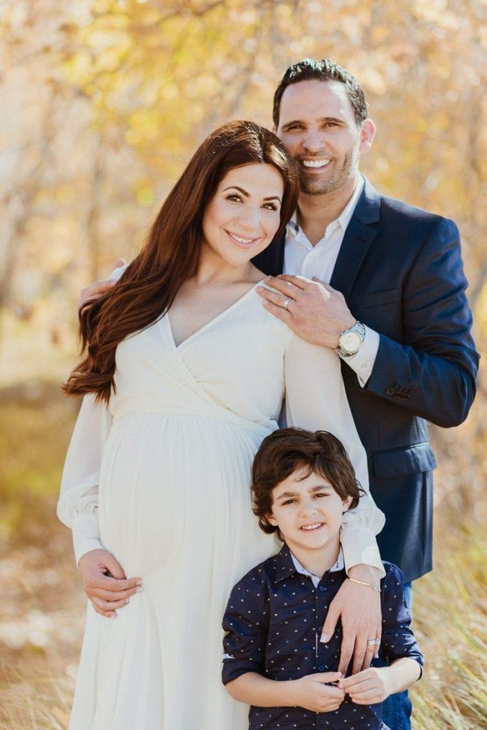 Family Maternity photo session in Denver Fall Foliage Trailhead | Colorado Lifestyle Photographer