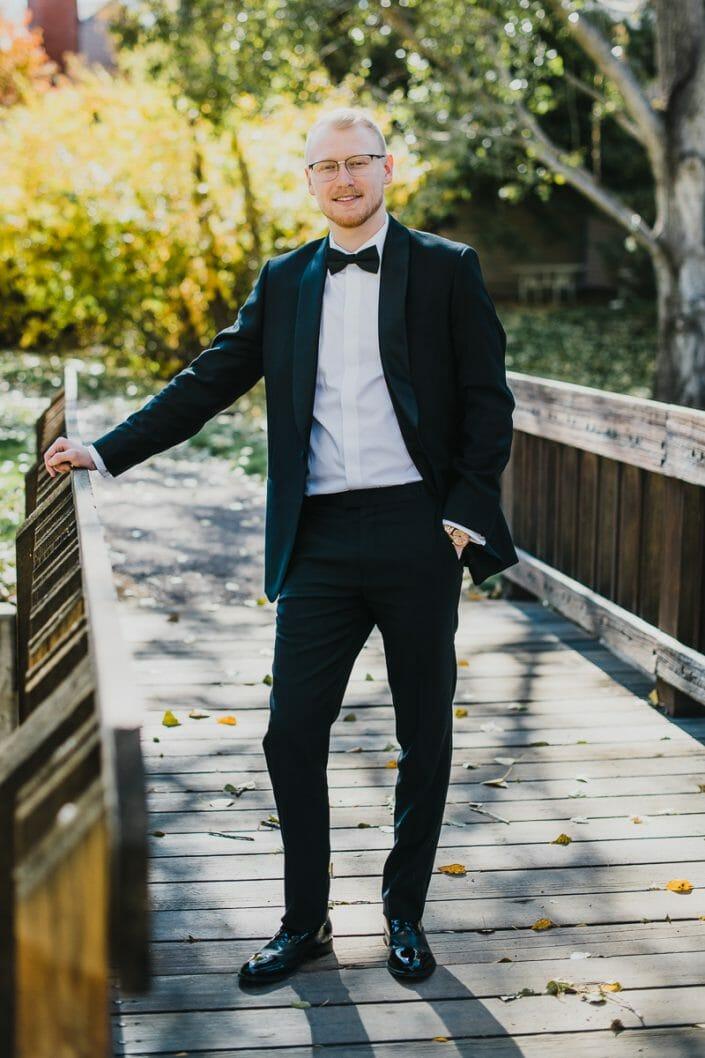 Elegant Groom Wedding Portrait   Boulder Colorado Elopement Photographer
