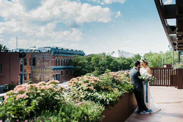 Elizabeth Hotel First Look Wedding Photo | Fort Collins Colorado Elopement Photographer