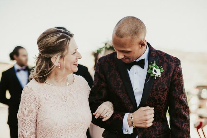 Wedding Ceremony Groom with Mom | Denver Colorado Elopement Photographer