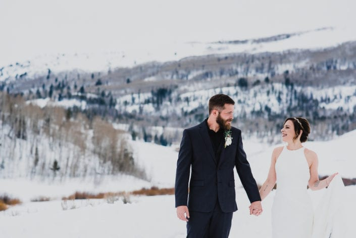 Mountain Winter Wedding Portrait | Colorado Elopement Photographer