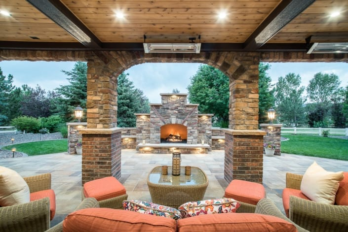 Under The Roof Patio Photo | Colorado Real Estate Photographer