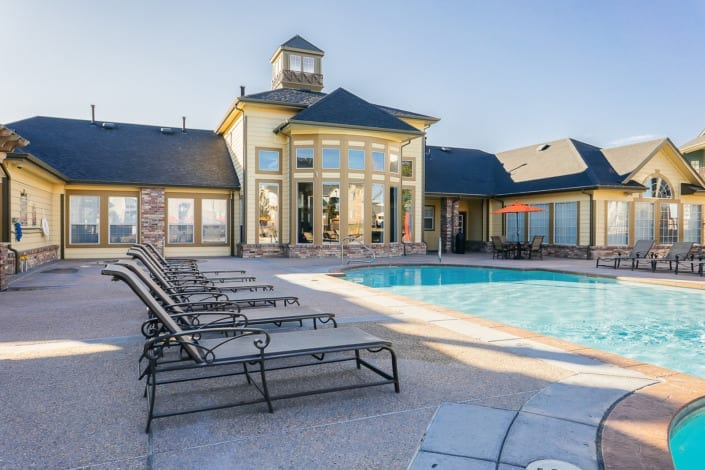 Clubhouse Outdoor Pool Photo | Colorado Real Estate Photographer