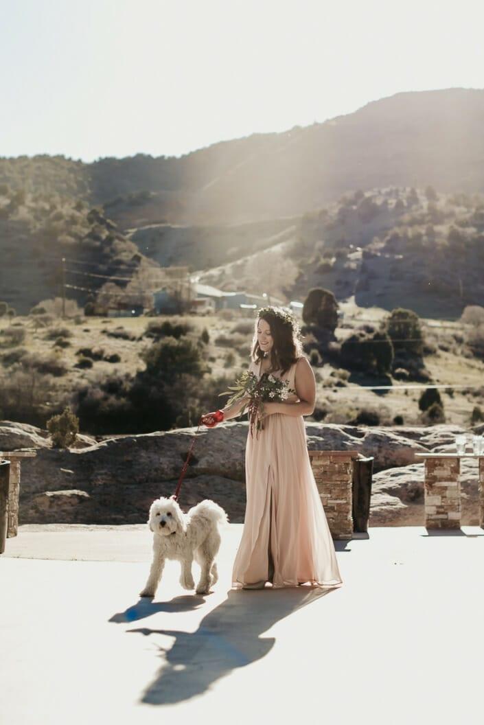Wedding Ceremony with Dog | Denver Colorado Elopement Photographer