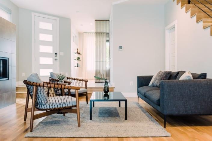 Modern Minimal Living Room Photo | Colorado Real Estate Photographer