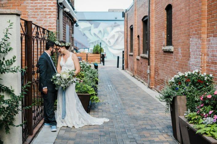 Urban Couple Portraits Wedding Photo | Fort Collins Colorado Elopement Photographer