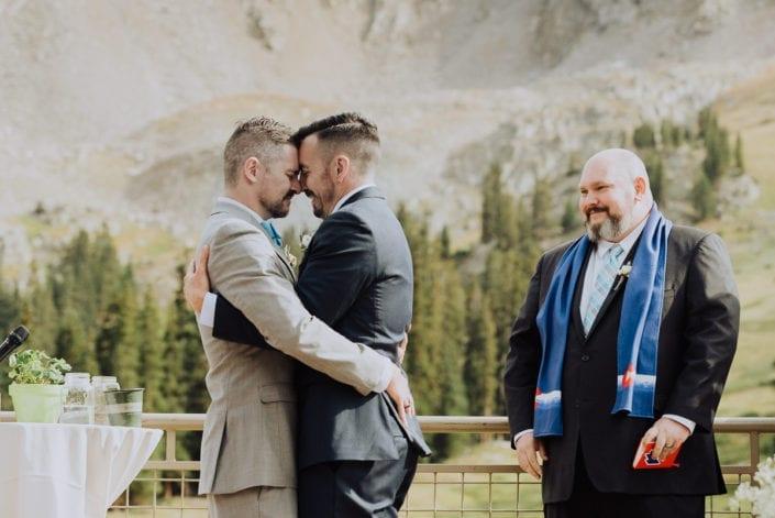 Mountain Same-sex Summer Wedding Portrait | Colorado Elopement Photographer