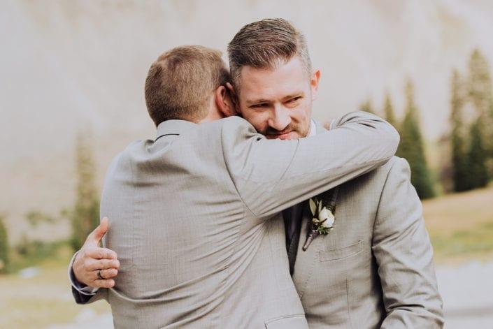Mountain Summer Wedding Groomsmen | Colorado Elopement Photographer
