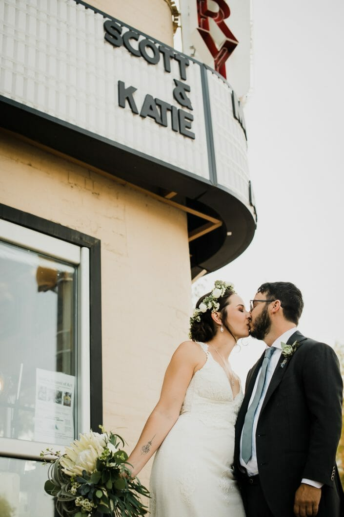 Urban Couple Marquee Portraits Wedding Photo | Fort Collins Colorado Elopement Photographer
