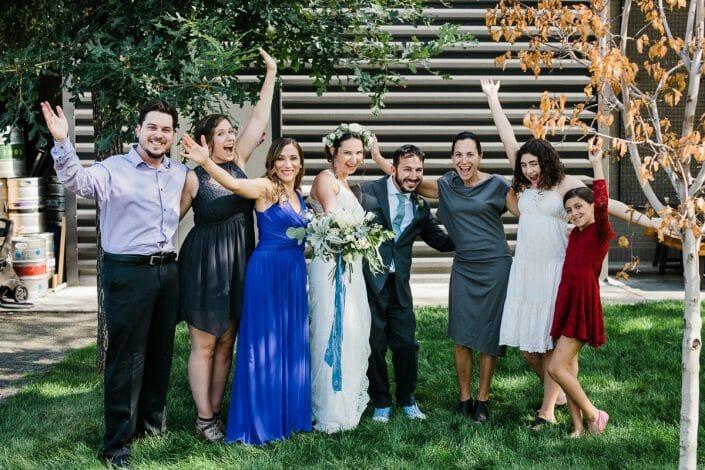 Urban Wedding Party Portraits Photo | Fort Collins Colorado Elopement Photographer