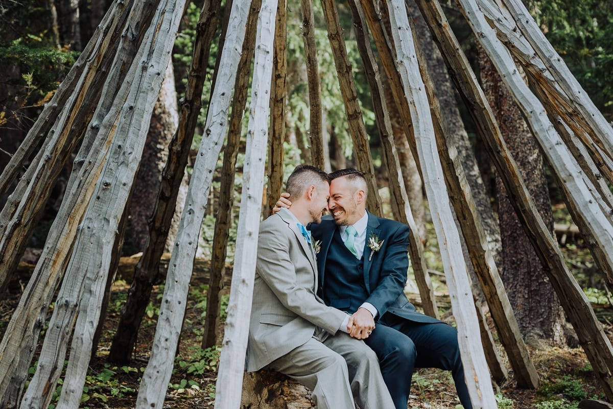 Mountain Teepee Summer Wedding | Colorado Elopement Photographer