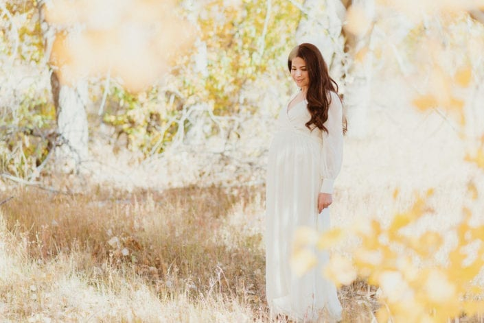 Family Maternity photo session in Denver Fall Foliage Trailhead | Colorado Lifestyle Photographer