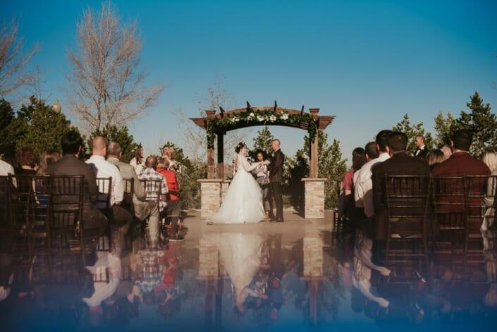Wedding Ceremony Prism Photo | Denver Colorado Elopement Photographer