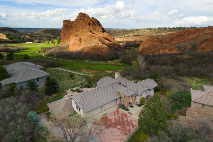 Red Rocks House Drone Photo | Colorado Real Estate Photographer