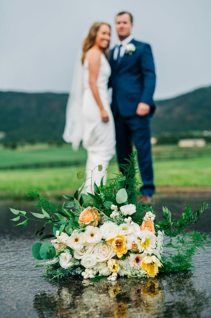 Rain on Wedding Day | Larkspur Colorado Elopement Photographer