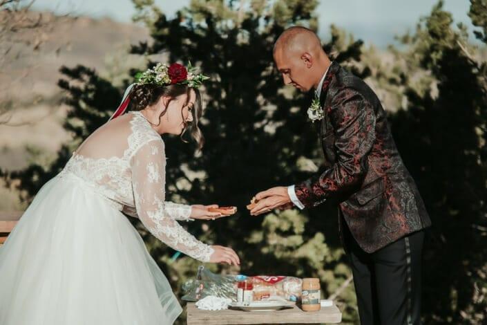Wedding Ceremony PB&J | Denver Colorado Elopement Photographer