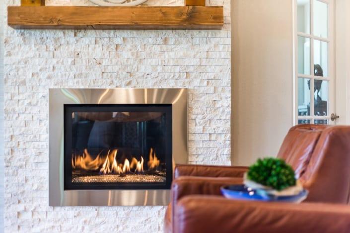 Modern Fireplace Photo | Colorado Real Estate Photographer