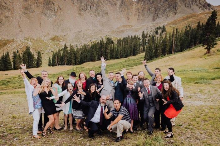 Mountain Summer Wedding Reception Party | Colorado Elopement Photographer