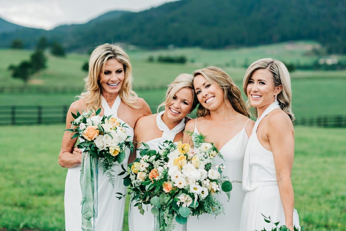 Wedding Bridal Party | Larkspur Colorado Elopement Photographer