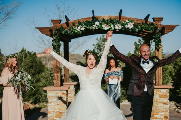 Wedding Ceremony Happiness | Denver Colorado Elopement Photographer