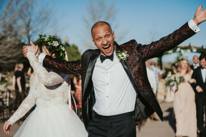 Wedding After Ceremony Excitement | Denver Colorado Elopement Photographer