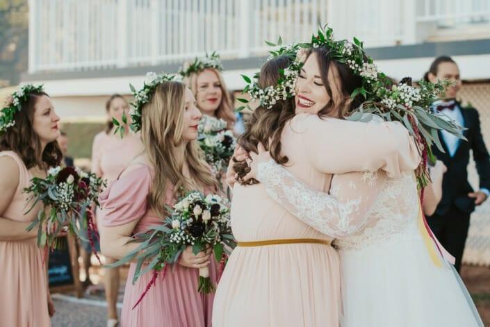Wedding After Ceremony Hugs | Denver Colorado Elopement Photographer