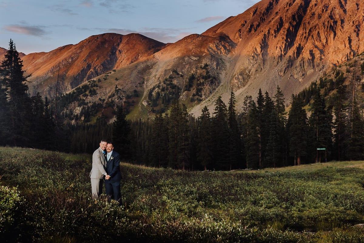 Mountain Summer Wedding Portrait LGBTQ | Colorado Elopement Photographer